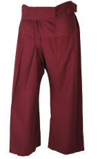 Thai fisherman pants in solid cotton, wrap pants, yoga pants, one..