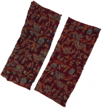 Leg warmers, patchwork Goa legwarmer - bordeaux