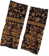 Legwarmers, patchwork Goa Legwarmer - black/golden yellow