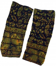 Leg warmers, patchwork Goa Legwarmer - black/lemon