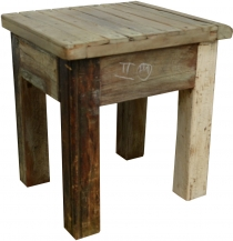 Side table, coffee table in recycled wood - Model 10