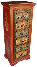 Painted shoe cabinet with elephant front - Model 5