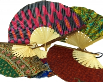 Covered bamboo fan