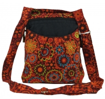 Embroidered Ethno Shoulder Bag - red