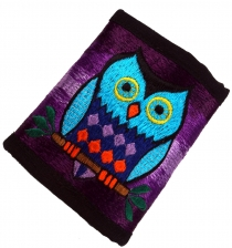 embroidered purse - owl