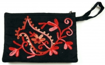Embroidered cashmere wallet - 1