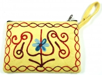 Cashmere embroidered wallet - 2