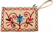 Cashmere embroidered wallet - 3
