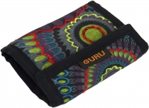 Embroidered Wallet Retro - black