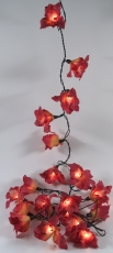 Lotus blossoms LED light chain 20 pcs. - blossom red