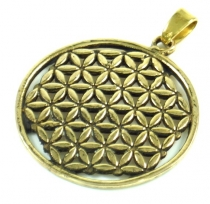 Flower of Life brass pendant 3 cm