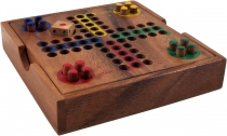 Board game, wooden parlour game - Ludo
