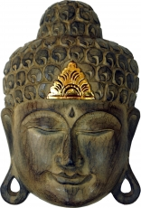 Carved+Buddha+Mask+with+gold+decoration%2C+Wall+decoration%2C+Eth..