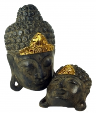 Buddha mask with gold decoration in 3 sizes