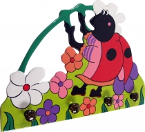 Colourful children`s wardrobe wall hook - Käfer