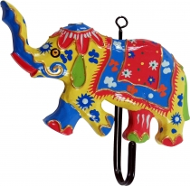 Colourful wooden coat hook, wall hook, coat hook - Elephant 1
