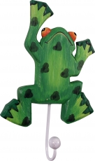 Colorful wooden coat hook, wall hook, coat hook - Frog 1