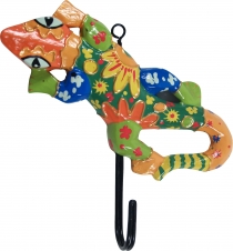 Colourful wooden coat hook, wall hook, coat hook - Gecko 1