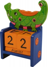 Colourful children`s calendar - Crocodile