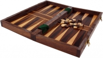 Board game, wooden parlour game - checkers and backgammon