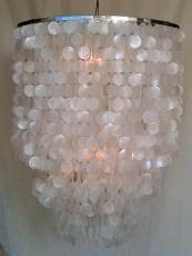 Ceiling Lamp/Ceiling Lamp, Shell Lamp from hundreds of capiz, mot..