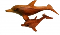 Deco Dolphin, carved in 2 sizes