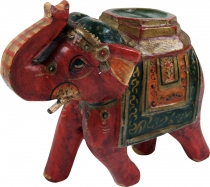 Deco elephant from India, painted, Indian wooden elephant, sculpt..
