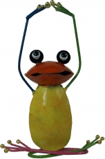 Decoration frog, yoga frog made of coloured metal - Design 1