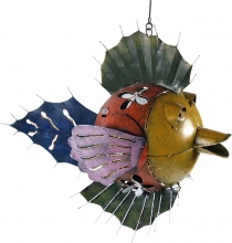 Deco fish, candleholder to hang - Design 9