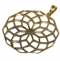 The seed of life brass chain pendant