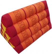 Triangle Thai cushion, triangle cushion, kapok - red/orange