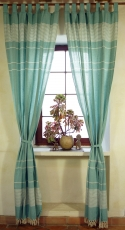 Boho curtains, curtain (1 pair ) with loops, ethno style curtain,..