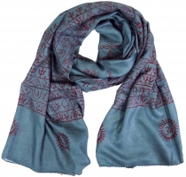 Thin Baba cloth, Benares Lunghi - blue grey