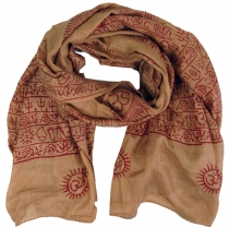 Thin Baba cloth, Benares Lunghi - caramel