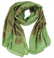 Thin Baba cloth, Benares Lunghi - green