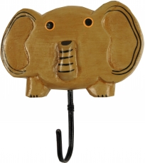 Colourful wooden coat hook, wall hook, coat hook - Elephant 2