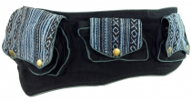 Ethno belt bag, Festival belly bag - blue