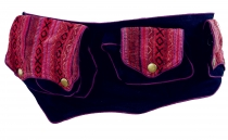 Ethno Belt Bag, Festival Belly Bag - bordeaux