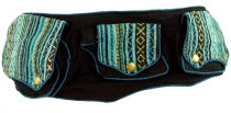 Ethno Belt Bag, Festival Belly Bag - turquoise