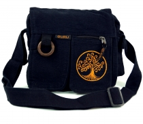 Ethno shoulder bag `Tree of life`- black