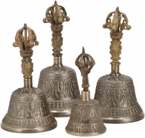 Tibetan temple bell made of brass in 4 sizes