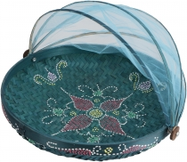 Fly protection fruit basket in 3 sizes - turquoise/painted