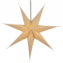 Foldable Advent illuminated paper star, Poinsettia 60 cm - Attila..