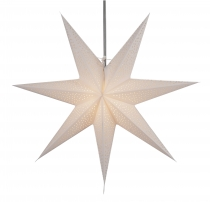 Foldable Advent illuminated paper star, Poinsettia 60 cm - Nazar