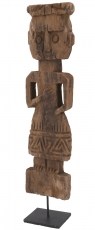 wooden figure, sculpture, carving in primitive style