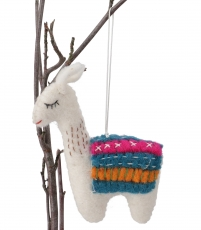 Felt decoration Lama, handmade animals from felt, tree curtain - ..