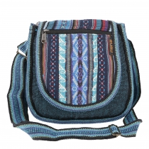 Ethno shoulder bag, Boho bag - petrol