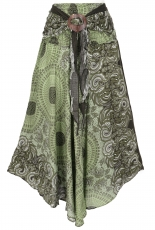 Boho summer skirt, maxi skirt hippie chic - olive green