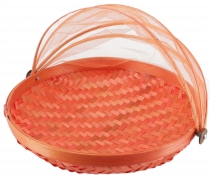 Fly protection fruit basket in 3 sizes - orange