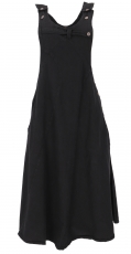 Bib skirt, strap dress, hippie skirt - black